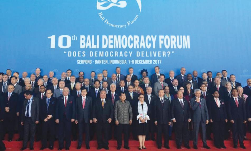 foto bersama bali democracy forum
